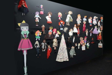 Wall Of Dolls Set Up In Milan