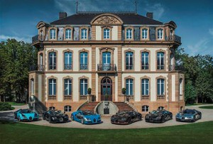 Bugatti Presents All Six Les Légendes de Bugatti Models