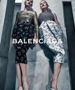 Kate Moss and Lara Stone for Balenciaga Fall2015