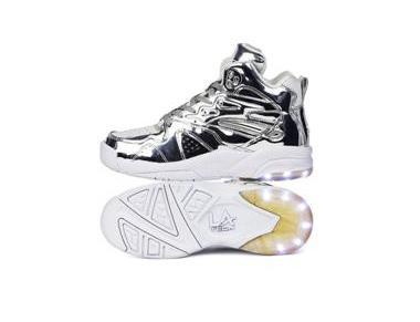 Tyga x L.A. Gear Liquid SilverSneakers
