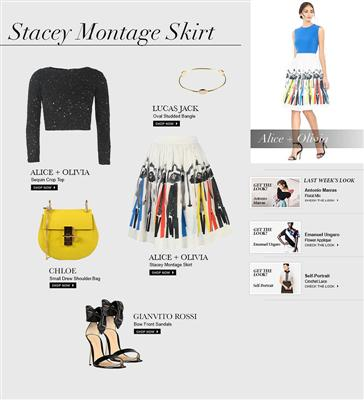 Alice + Olivia: Stacey Montage Skirt