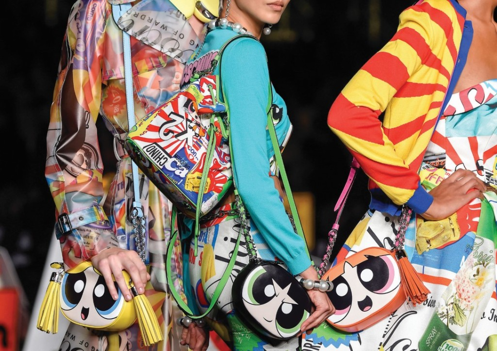 71eaccc964b Jeremy Scott of Moschino has teamed up with Cartoon Network to create a  line of Powerpuff Girls merchandise featuring Bubbles, Buttercup, and  Blossom.