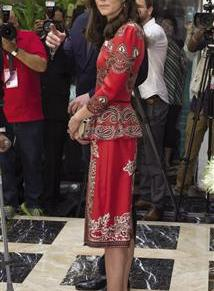 Duchess begins India tour in Alexander McQueen