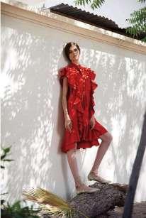 DRESS: Lanvin Thuraya Mall. SHOES: Aquazzura, Al Ostoura Thuraya Mall, Al Ostoura The Avenues.