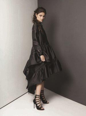 DRESS: Simone Rocha Al Ostoura Thuraya Mall,Al Ostoura The Avenues SHOES: Natasha Zinko Al Ostoura Thuraya Mall, Al Ostoura The Avenues.
