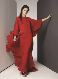 DRESS : Lanvin Thuraya Mall. SHOES: Alexander McQueen Al Ostoura Thuraya Mall, Al Ostoura Salhiya Complex. Earings:Ca & Lou Al Ostoura Thuraya Mall, Al Ostoura The Avenues