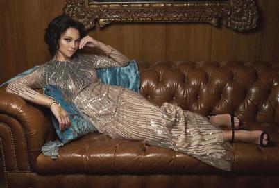Dress: Reem Acra - Al Ostoura Thuraya Mall Shoes: Stella McCartney - Thuraya Mall & Al Ostoura Avenues.