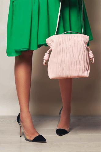 Dress: Delpozo Bag: Loewe Shoes: Gianvitto Rossi