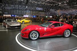 The new 812 superfast stars on the Ferraristand