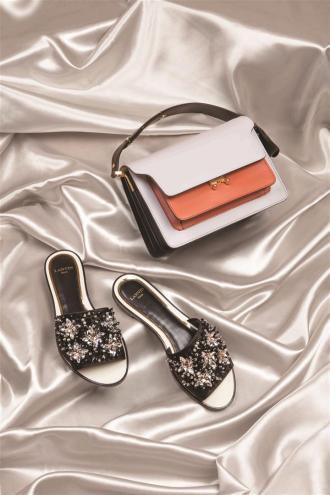 Bag:Marni / Thuraya Mall Slippers: Lanvin / Thuraya Mall, Al Ostoura The Avenues