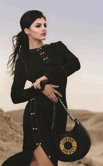 DRESS: Loewe - Al Ostoura Thuraya Mall BAG: Loewe - Al Ostoura Thuraya Mall, Al Ostoura The Avenues