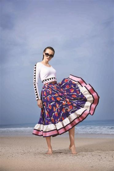 SKIRT & TOP: Emilio Pucci - Al Ostoura Thuraya Mall SUNGLASSES: 3.1 Phillip Lim - Al Ostoura The Avenues